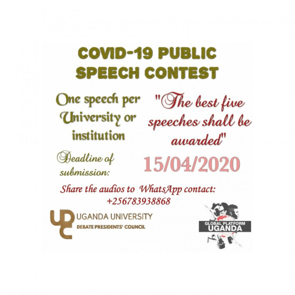 Fighting Coronavirus Together: KIU to Participate in Debate President's Council Public Speaking Competition on COVID-19