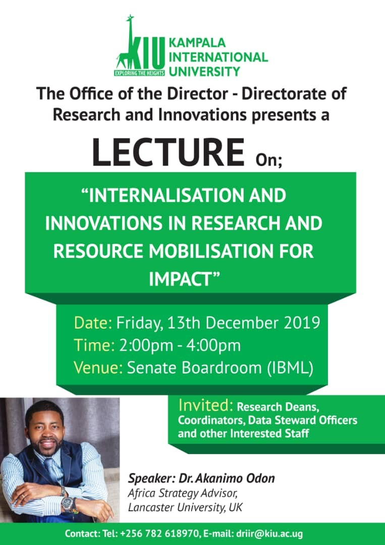 Internationalization and Innovations in Research and Resource Mobilisation for Impact