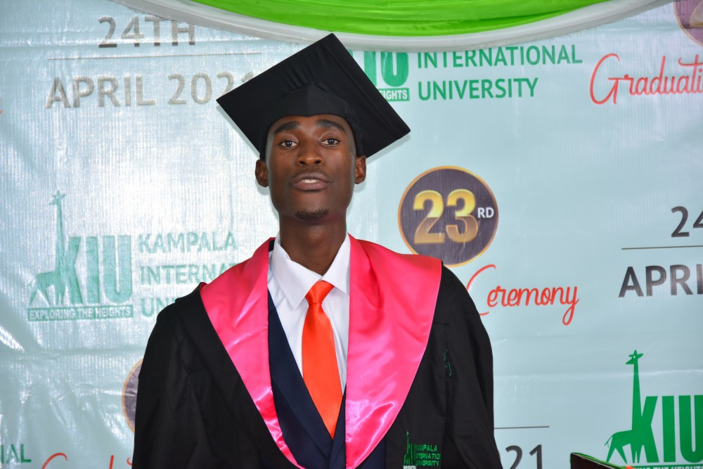 James Nyanzi Best Student at KIU 23rd Graduation, Wants to be a Job Creator