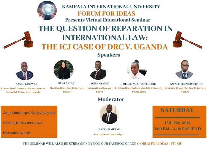 KIU Forum for Ideas Organizes First-Ever Educational Seminar on Reparation in International Law