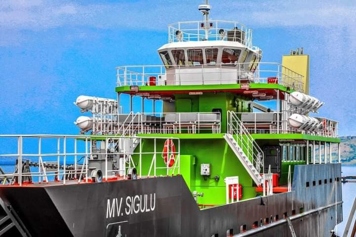 KIU General News: President Museveni Commissions 300-seater Ferry MV Sigulu