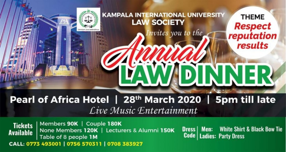 KIU Law Students Look forward to The Upcoming Annual Law Dinner