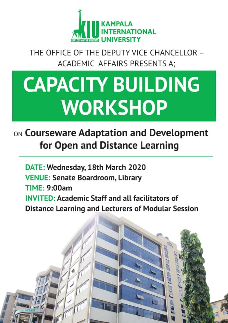kiu-to-organize-capacity-building-workshop-on-courseware-adaptation-and-development-for-open-and-distance-learning