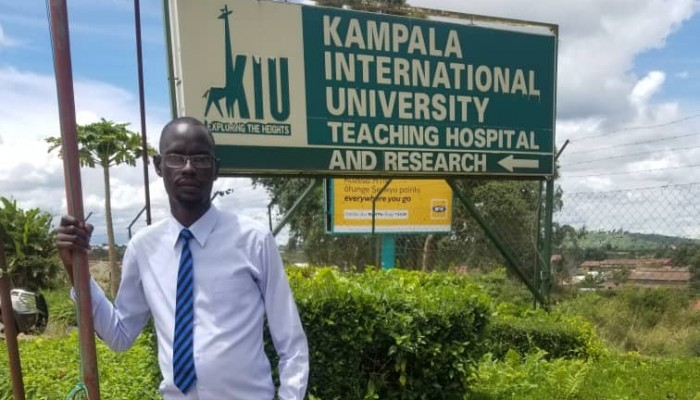 KIU Western Campus Finance Minister Okello Warns Students About Drugs, HIV During Lockdown