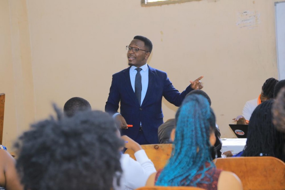 NBS's Mordecai Muriisa Motivates KIU Journalism Students